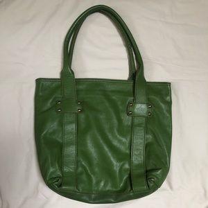 Innue Green Genuine Leather Tote Bag